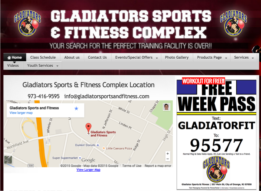 gladiator boxing using fitnesstexter to get more members